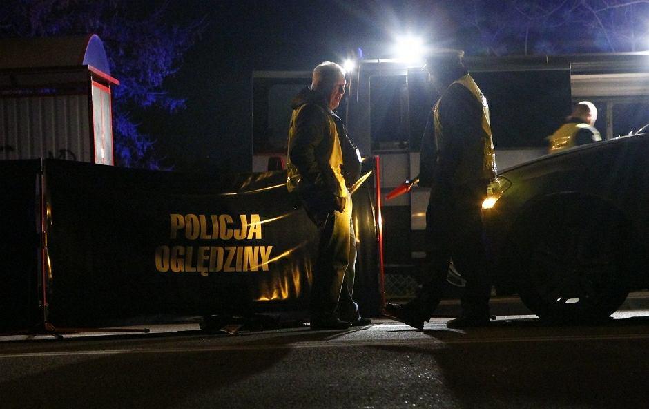 Policja na miejscu wypadku - zdjęcie ilustracyjne
