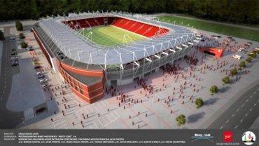 Wizualizacja stadionu dla Widzewa. Bliźniaczy -zdaniem Pogoni - mógłby powstać w Szczecinie. A jaki wybuduje Opole?