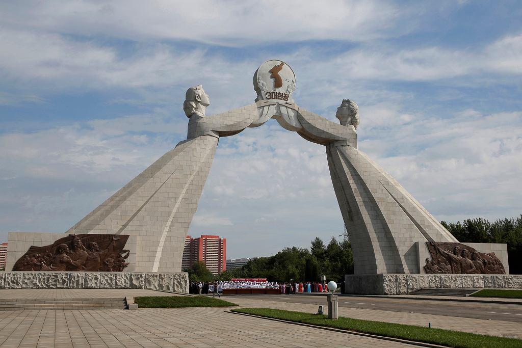 Pomnik zjednoczenia Korei w Pjongjangu, gdzie ma się odbyć szczyt