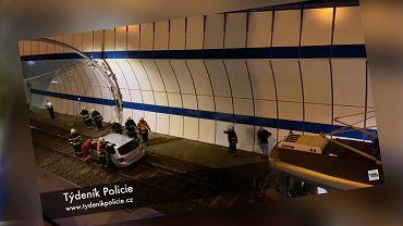 Czeska Praga. Pijany Polak jechał po torowisku dla tramwajów. Utknął w tunelu