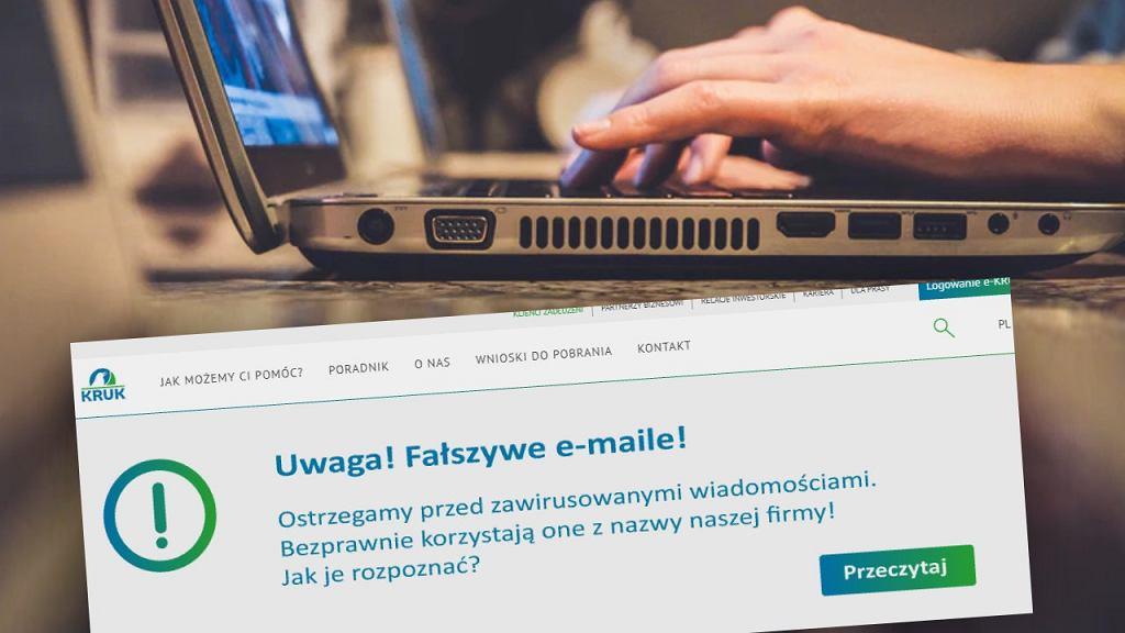 Kruk ostrzega przed fałszywymi e-mailami