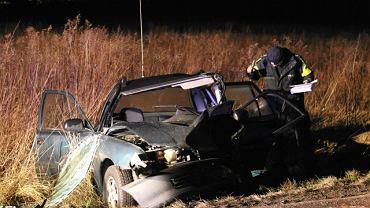 Wypadek drogowy, którego sprawca był pijany