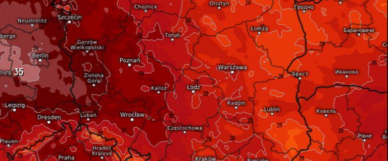 """Upały w Polsce - nadeszło """"pierwsze uderzenie"""". Mapy rozgrzane do czerwoności, a to nie koniec"""