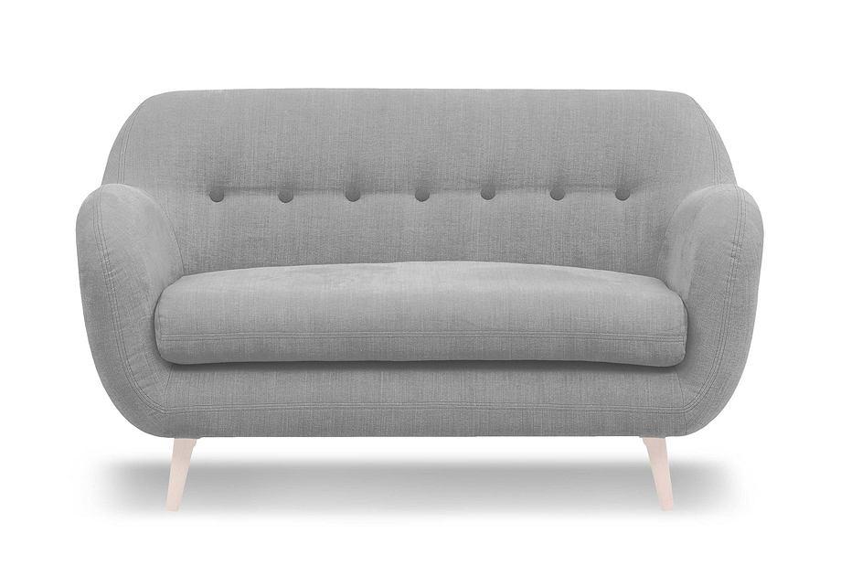 Szara sofa w stylu skandynawskim to modne i praktyczne rozwiązanie