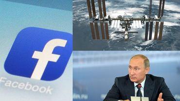 Logo Facebooka / Międzynarodowa Stacja Kosmiczna / Władimir Putin