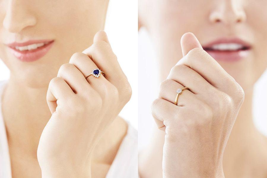 Pierścionki na zaręczyny z białego i żółtego złota są bardzo efektowne