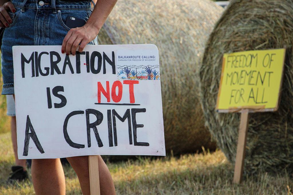 Protesty przeciwko działaniom Fronteksu