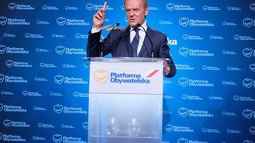 Donald Tusk na konferencji prasowej, 4.07.2021