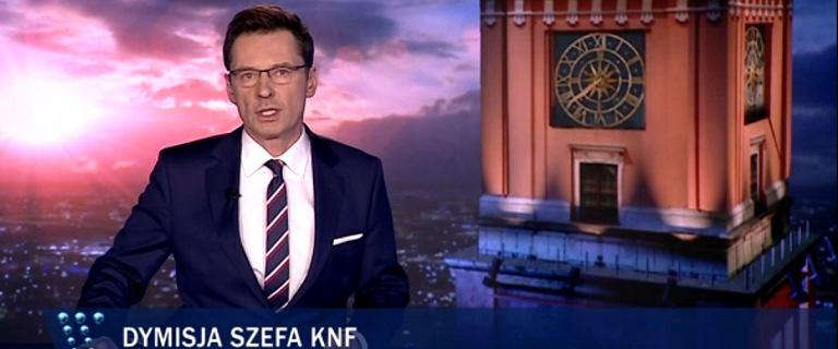 ''Wiadomości'' TVP o aferze KNF. Czarnecki ''współpracownikiem SB''