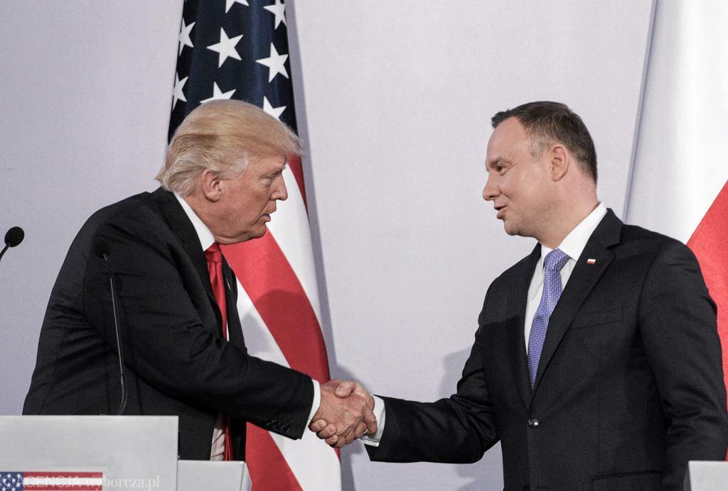 Donald Trump, Andrzej Duda, 06.07.2017 r.