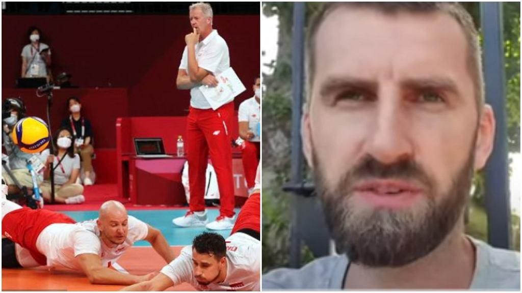 Polscy siatkarze podczas meczu z Iranem na IO w Tokio, Marcin Możdżonek w Sekcji Olimpijskiej na Sport.pl