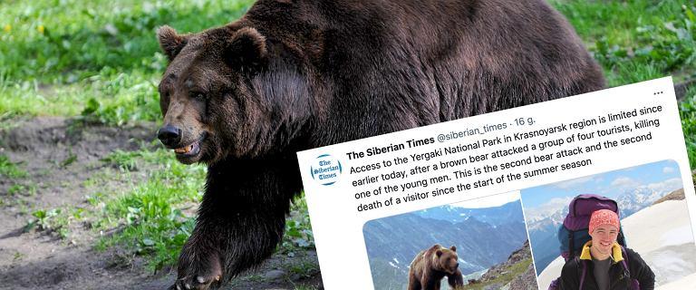 W parku na Syberii niedźwiedź rozszarpał mężczyznę na oczach jego przyjaciół