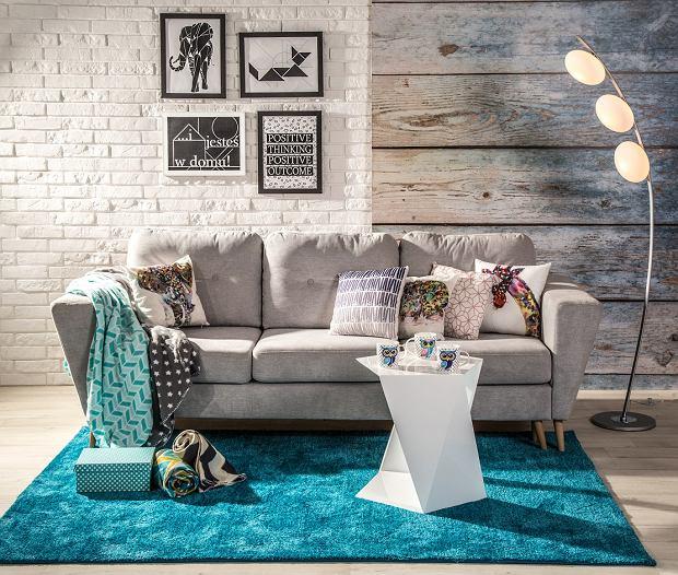 Modernistyczne Ściany w salonie. 12 pomysłów na modną dekorację ściany w salonie HZ04