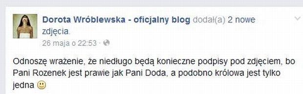 Wpis Doroty Wróblewskiej