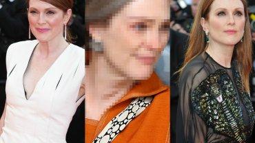 """Julianne Moore powalczy o kolejnego Oscara? Statuetkę jak w banku może mieć na pewno odpowiedzialny za imponujący makijaż gwiazdy charakteryzator, który pracuje z nią na planie filmu """"Wonderstruck"""". Na potrzeby tego obrazu gwiazda (już po raz kolejny!) pozwoliła się wyraźnie postarzyć. Robi na Was wrażenie taka metamorfoza?"""