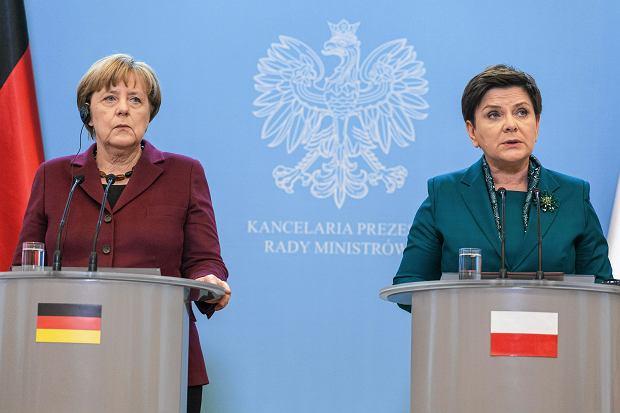 07.02.2017, Warszawa. Konferencja kanclerz Angeli Merkel i premier Beaty Szydło