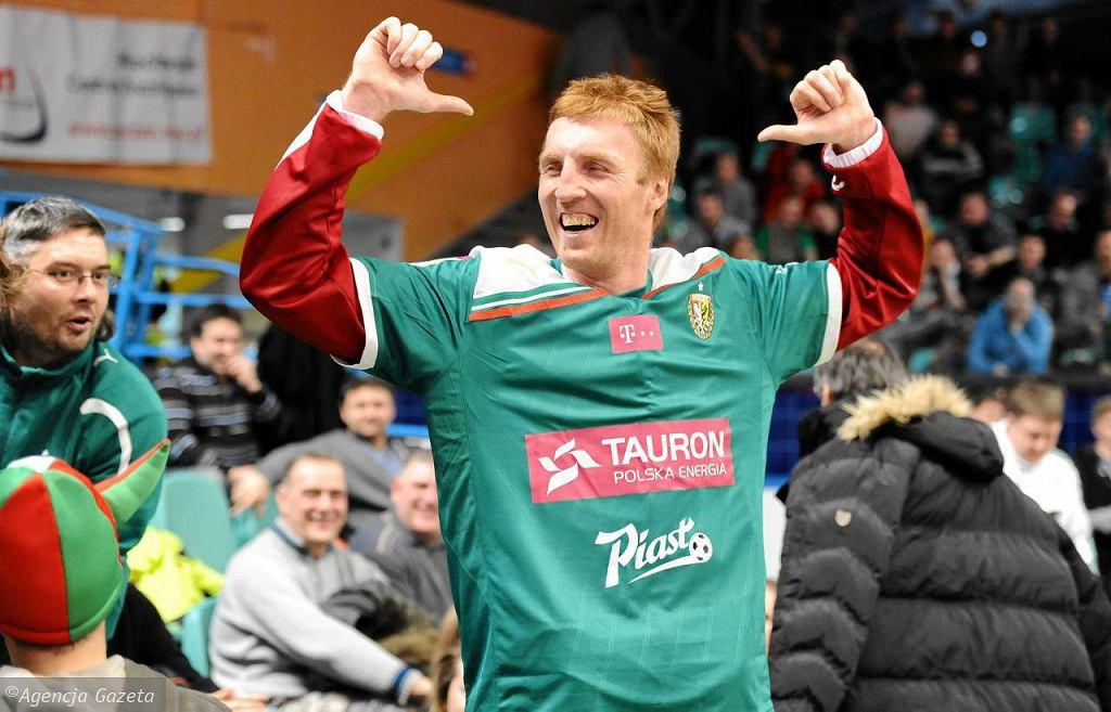 Radosław Hyży w koszulce piłkarskiego Śląska