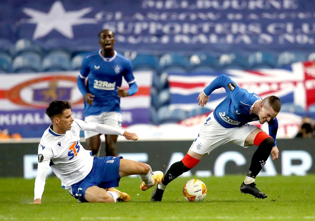 Glasgow Rangers - Lech Poznań. Filip Marchwiński kontra Ryan Kent