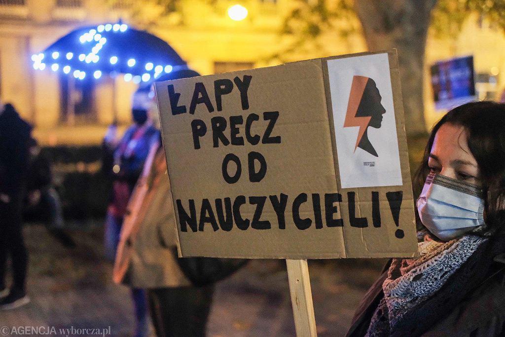 3 listopada 2020. Manifestacja na pl. Wolności w Poznaniu