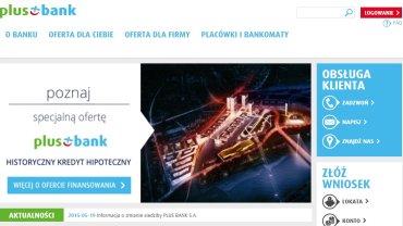 Screen ze strony Plus Banku