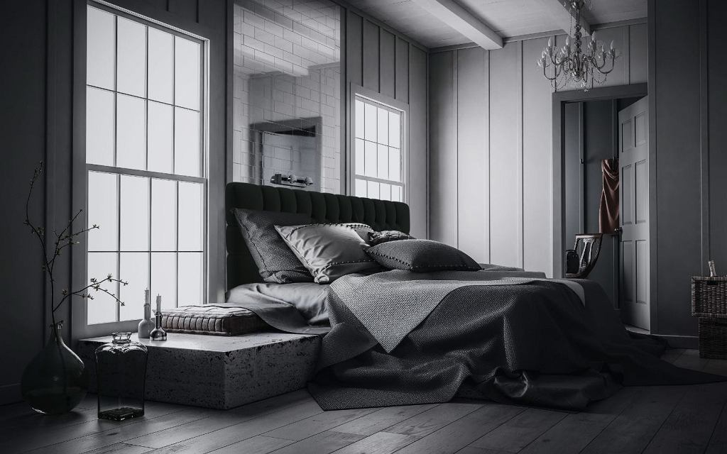 Łóżko kontynentalne z pojemnikiem Moet.