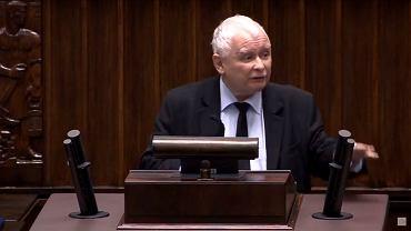 Jarosławowi Kaczyńskiemu puściły nerwy w Sejmie