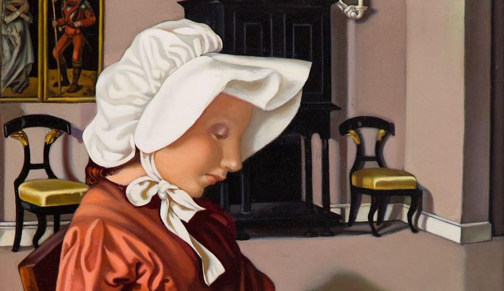 Portret - Tamara Łempicka, fragment