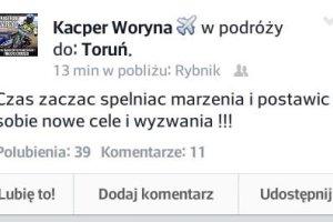 Kacper Woryna sugeruje, że mógłby trafić do KS Toruń