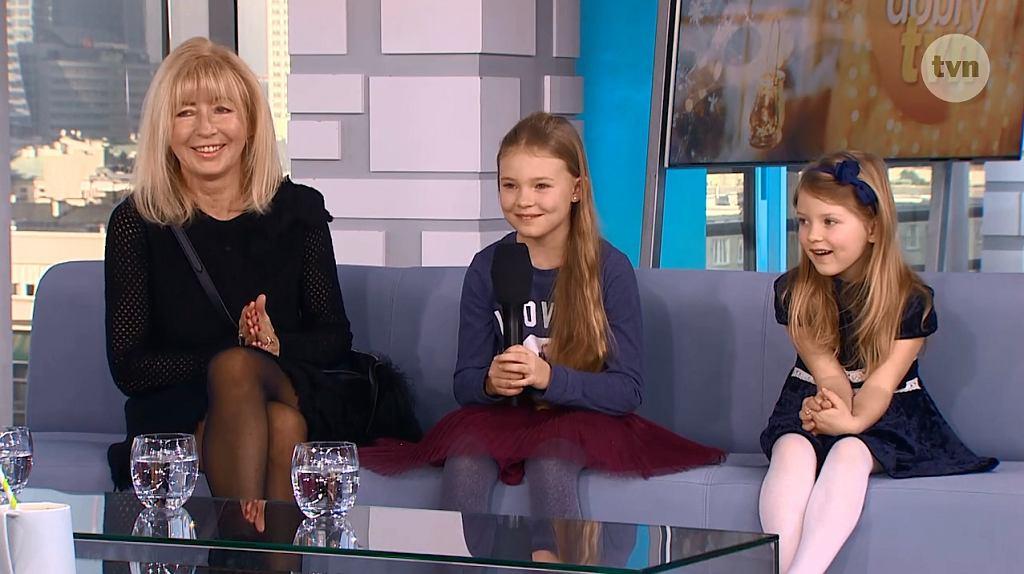 Anna Maria Wesołowska z wnuczkami