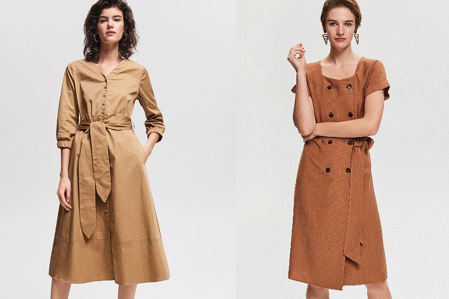 Sukienki w odcieniach brązu