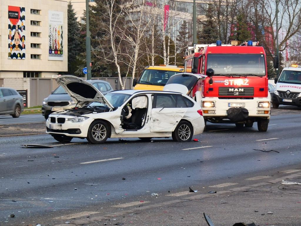 Wypadek na ul. Puławskiej