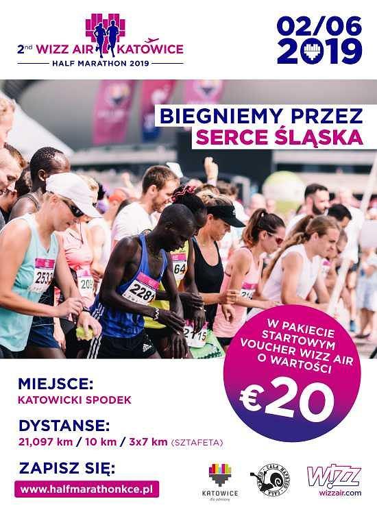 2nd WIZZ AIR KATOWICE HALF MARATHON - To maksymalnie odlotowy bieg! - 2 czerwca w Katowicach