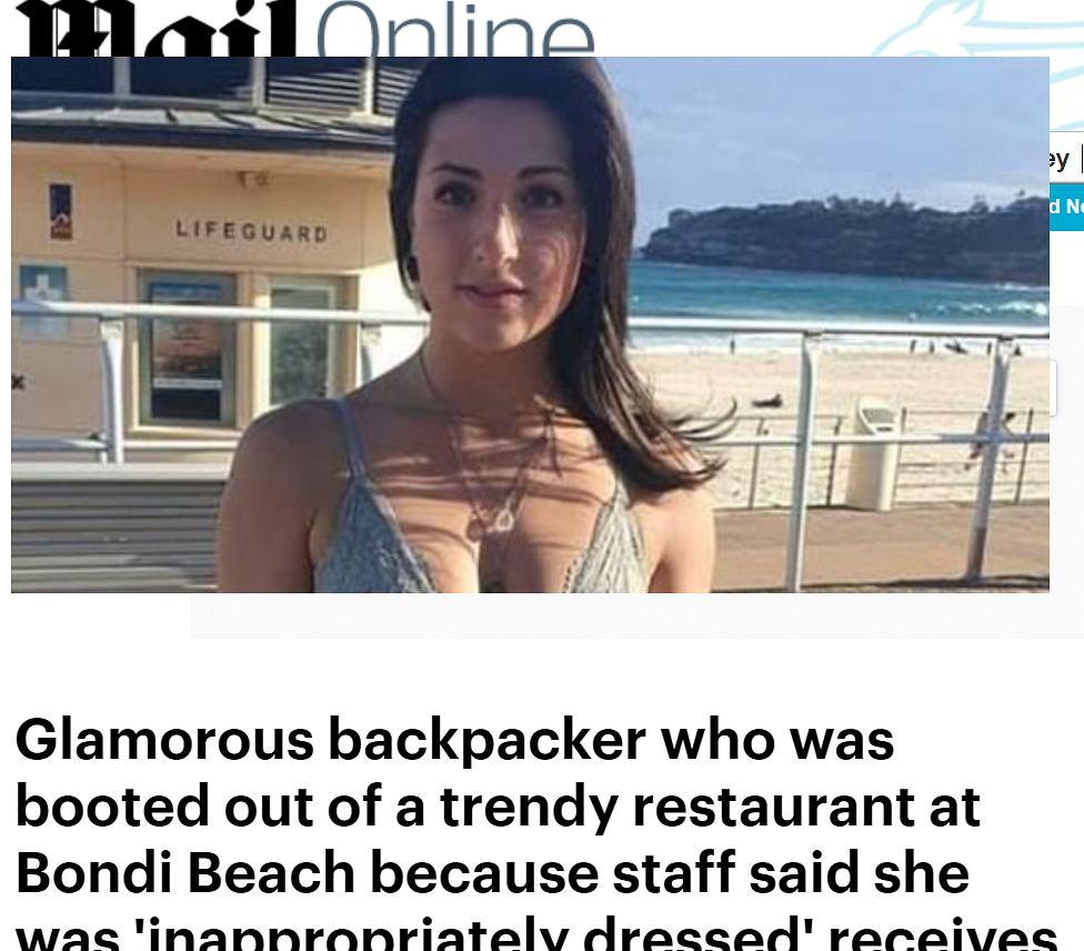 Z powodu stroju została wyproszona z restauracji. Pokazała, jak była wtedy ubrana