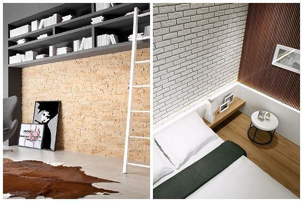 Kamień dekoracyjny - Roma Krem i Loft Brick