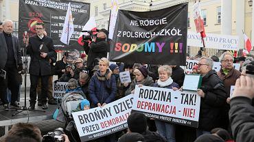 Warszawski Protest Rodziców przeciw deklaracji LGBT+