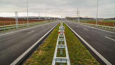 Budowa drogi S3. Odcinek Bolków do granicy z Czechami. Zdjęcie z listopada 2018 r.