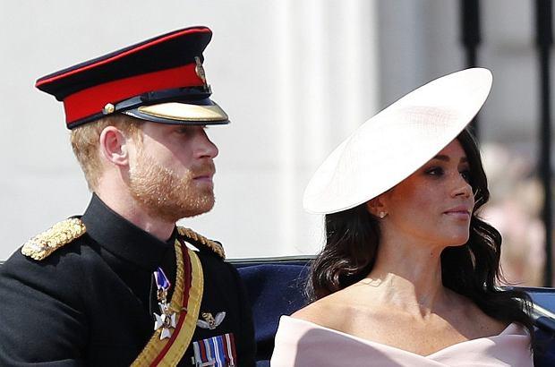 Książę Harry i Meghan Markle (księżna Meghan) na Trooping the Colour