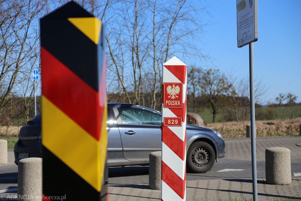 Granica polsko-niemiecka. Zdjęcie ilustracyjne