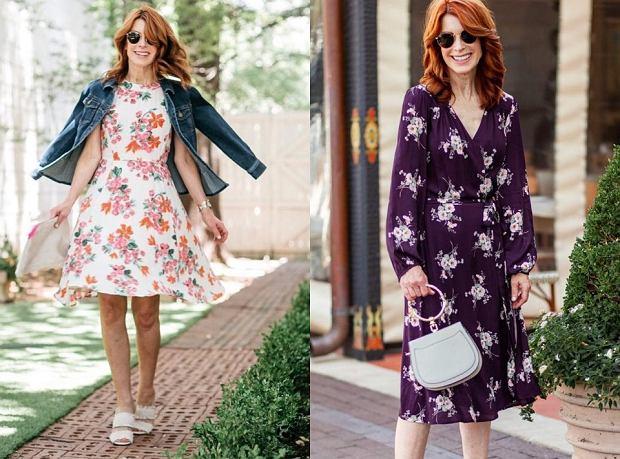 Sukienki na komunię - modele w kwiaty
