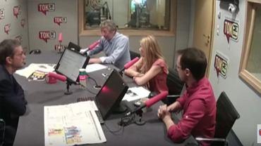 """Gośćmi Jana Wróbla w """"Poranku Radia TOK FM"""" byli dr Robert Sobiech, Kamila Baranowska i Tomasz Sawczuk"""