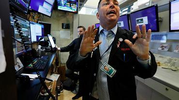 Załamanie notowań ropy naftowej, mocne spadki na giełdach. Fot. giełda w Nowym Jorku, zdjęcie ilustracyjne.