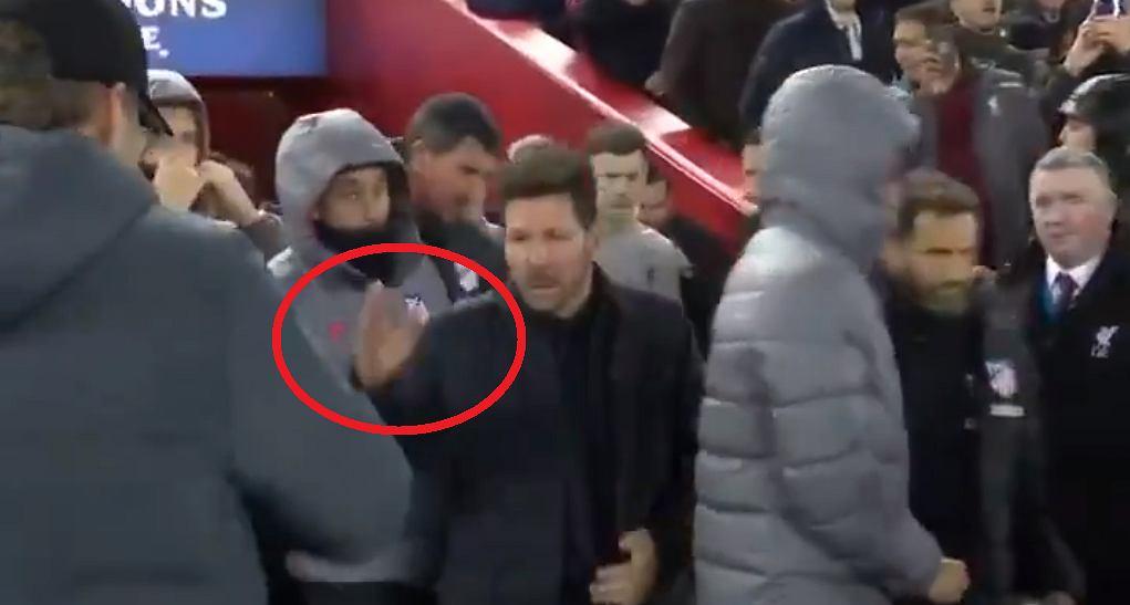 Powitanie Juergena Kloppa i Diego Simeone