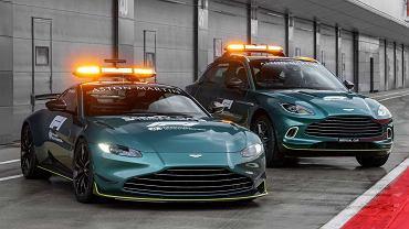 Aston Martin Vantage (safety car) i DBX (medical car), Formuła 1 2021