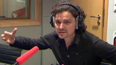 Grzegorz Jarzyna w studiu radia TOK FM