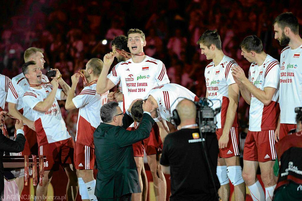 Radość polskich siatkarzy ze złotego medalu mistrzostw świata