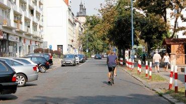 Ul. Kościuszki ma stanowić dla rowerzystów bezpieczną alternatywę wobec ul. Ozimskiej