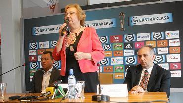 Małgorzata Mańka-Szulik na stadionie Górnika Zabrze