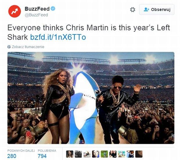 Tweet serwisu BuzzFeed
