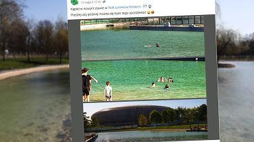 W Krakowie otworzyli nowy staw. Ludzie kąpią się w nim mimo zakazu