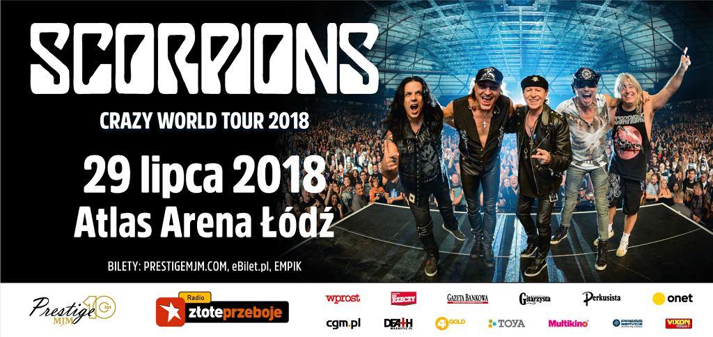 Scorpions wystąpi w Polsce w 2018 roku